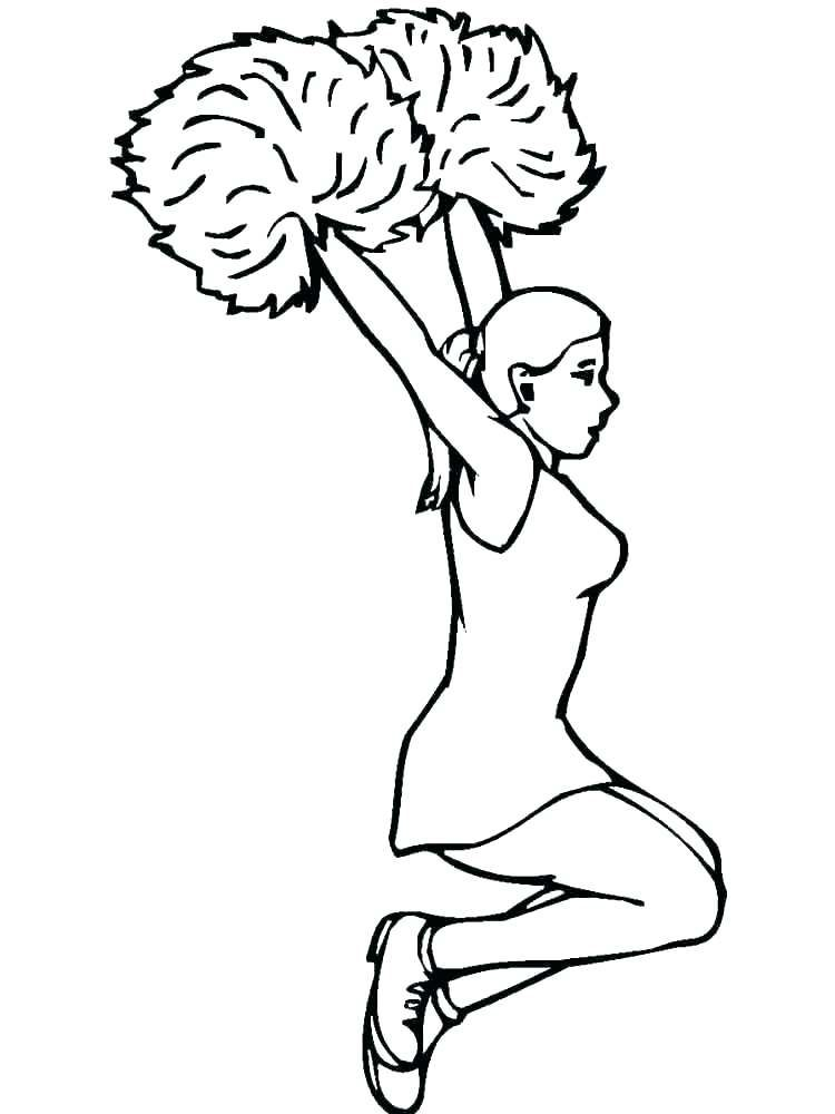 coloring pages of cheerleader pom poms