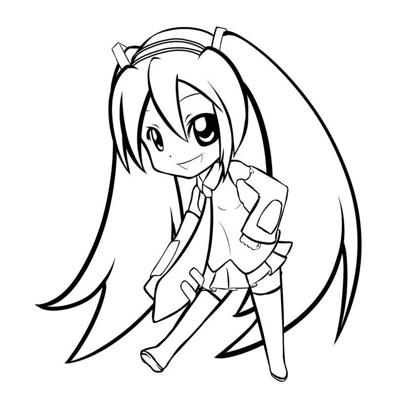 coloring pages of chibi anime