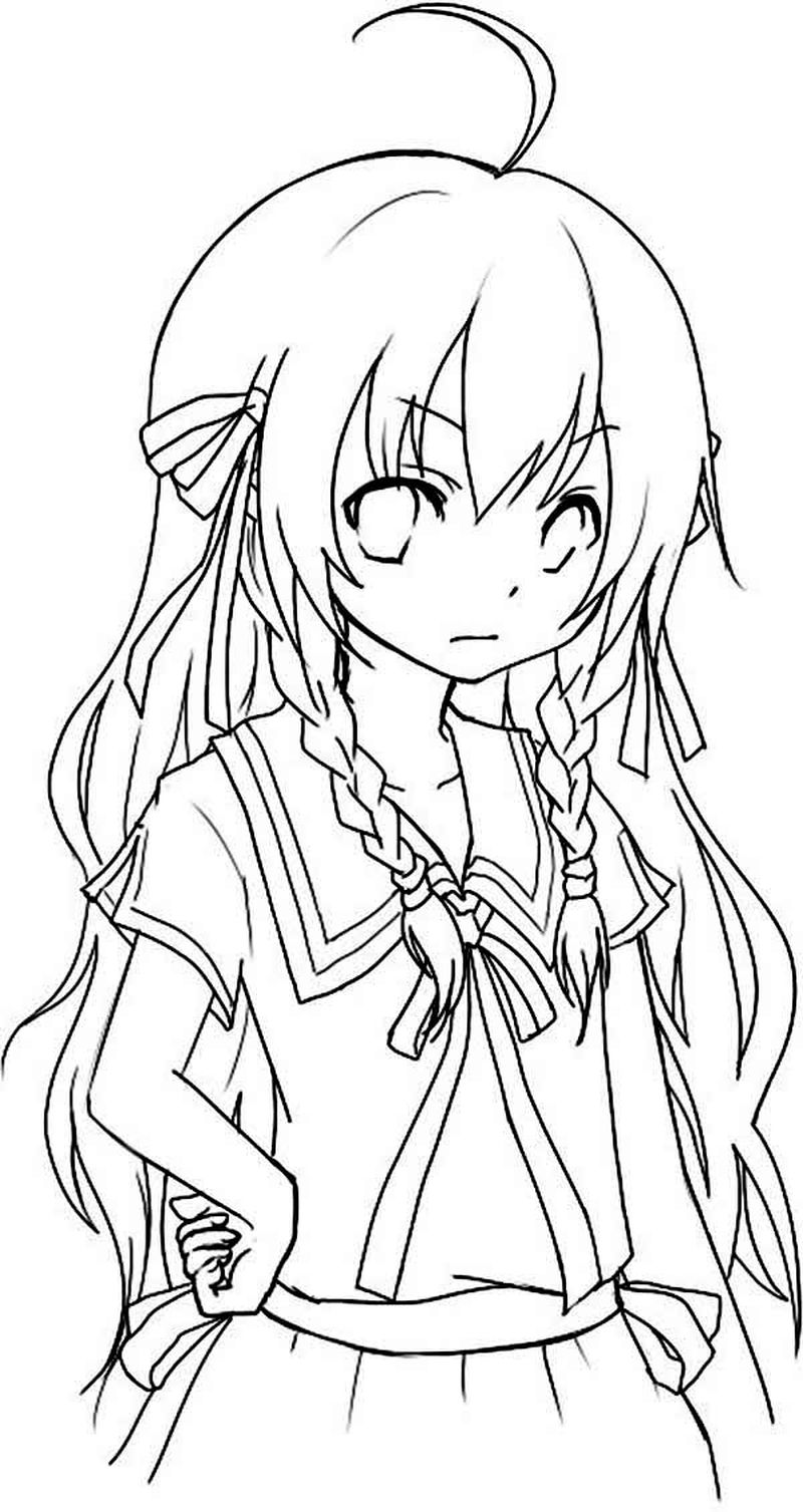 coloring pages of chibi
