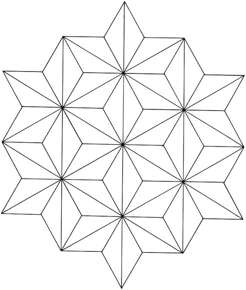 coloring pages of geometric designs