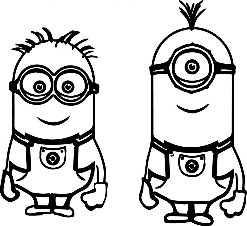 coloring pages of minions to print