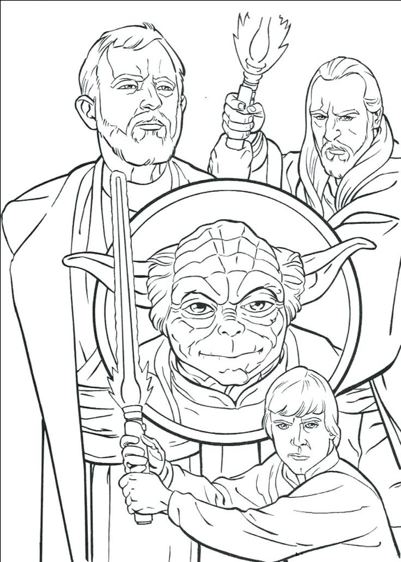 coloring pages of star wars characters