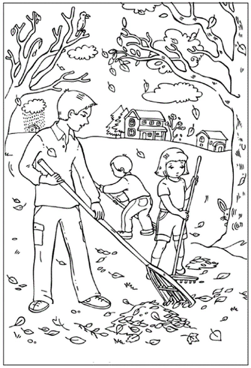 coloring pages parts tree