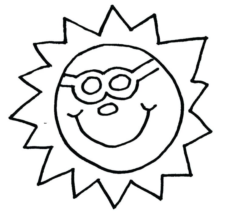 coloring pages sun and moon