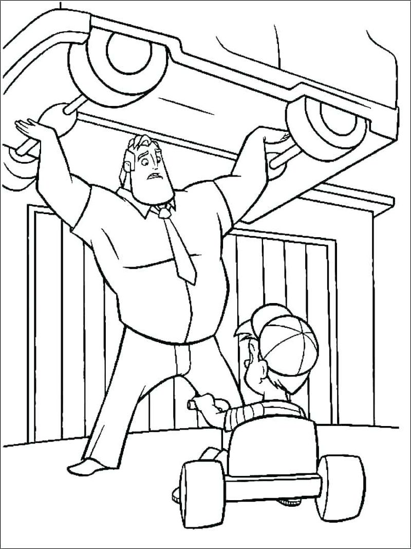 coloring pages the incredibles 2