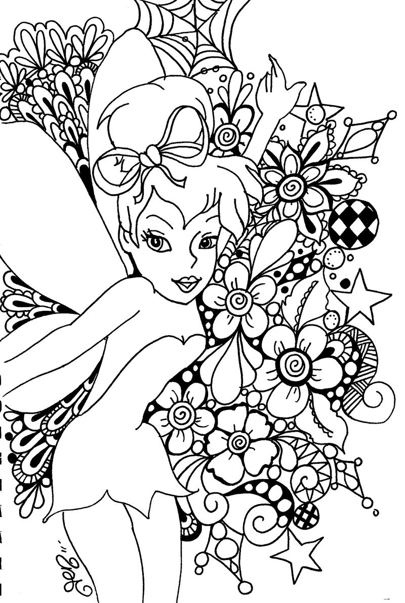 coloring pages tinkerbell coloring pages