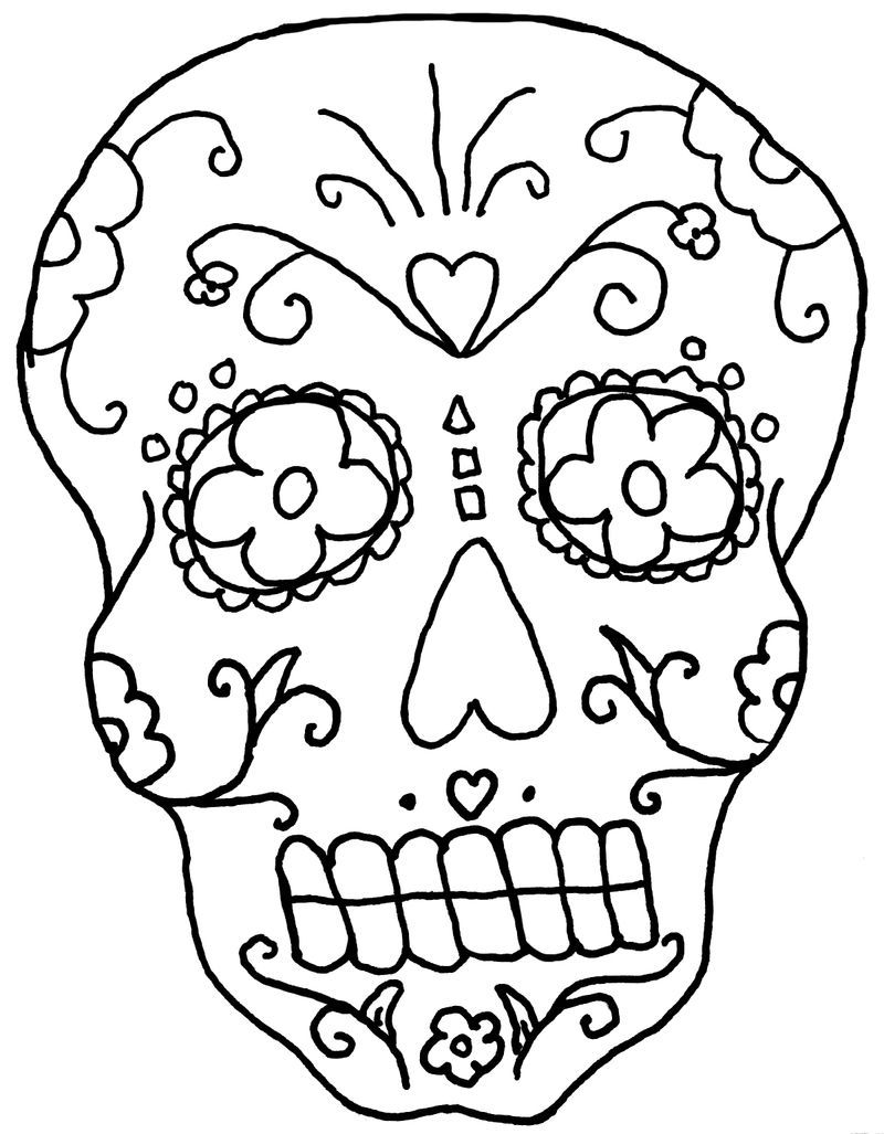 coloring skull pages