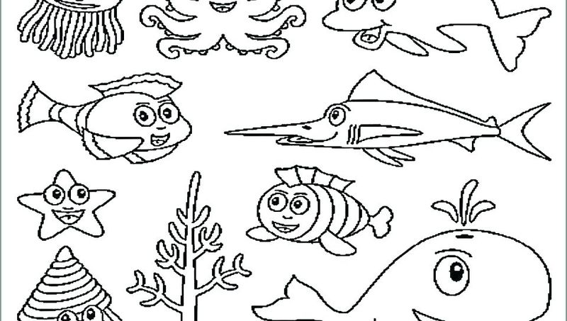 commotion in the ocean coloring pages