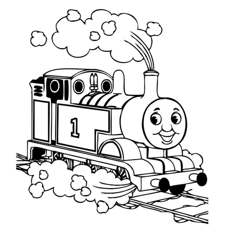 cool thomas the train coloring pages