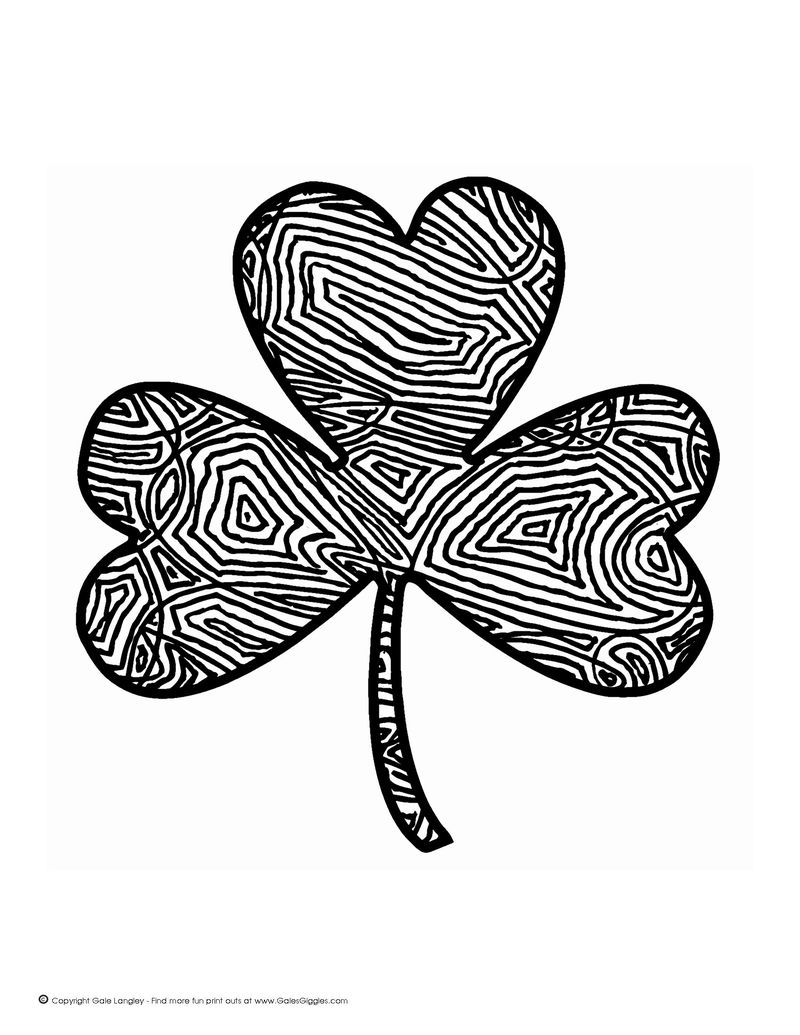 crayola shamrock coloring pages free