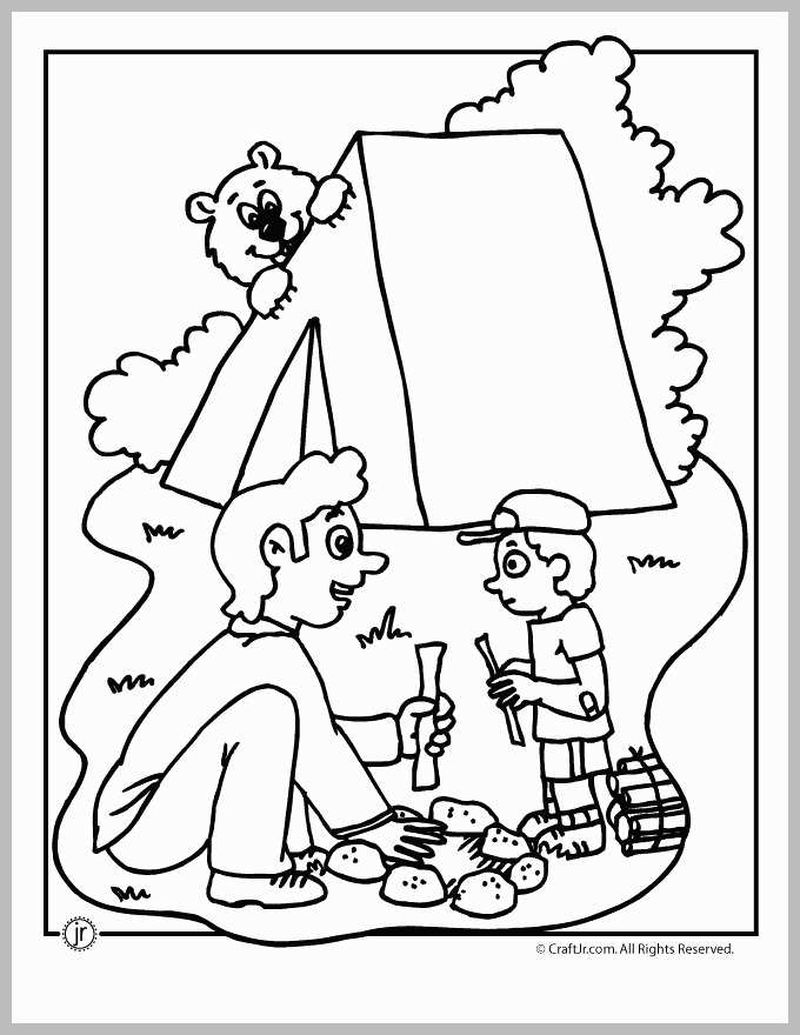 cub scout camping coloring pages