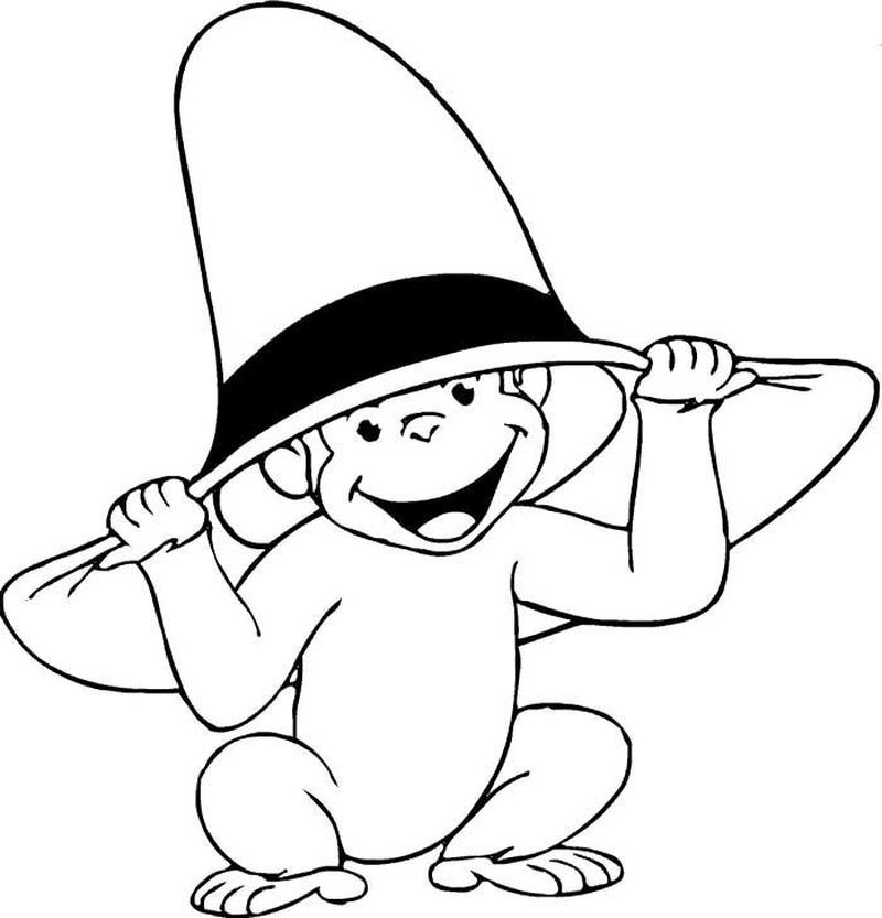 curious george at school coloring pages