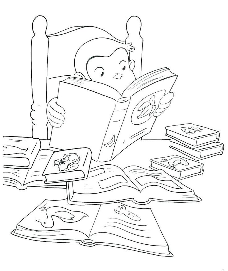 curious george boo fest coloring pages