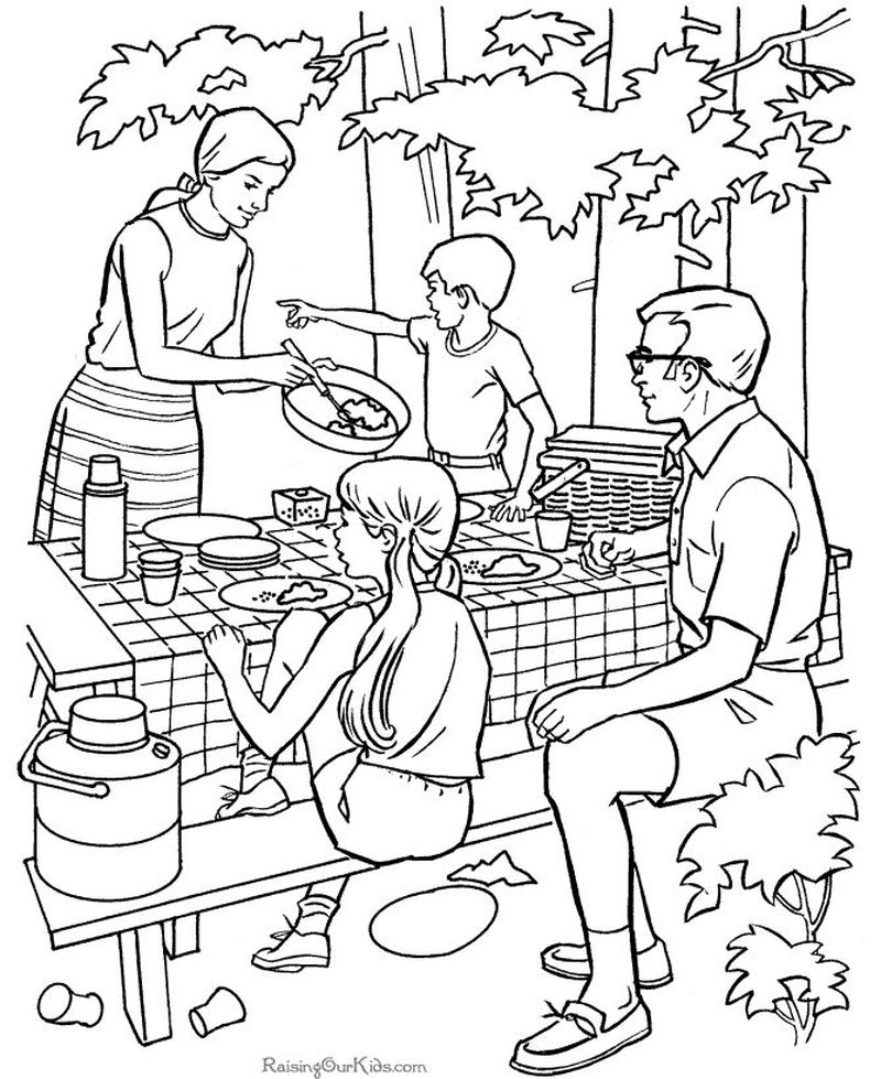 curious george camping coloring pages 1