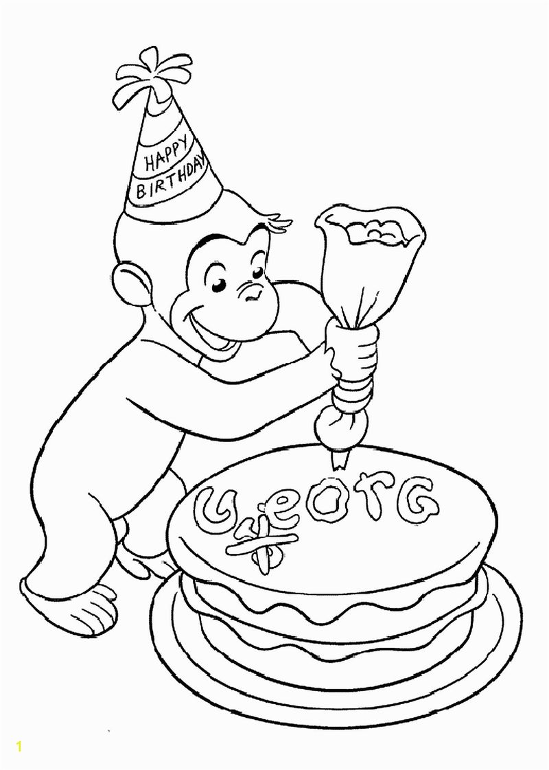 curious george coloring pages for toddlers