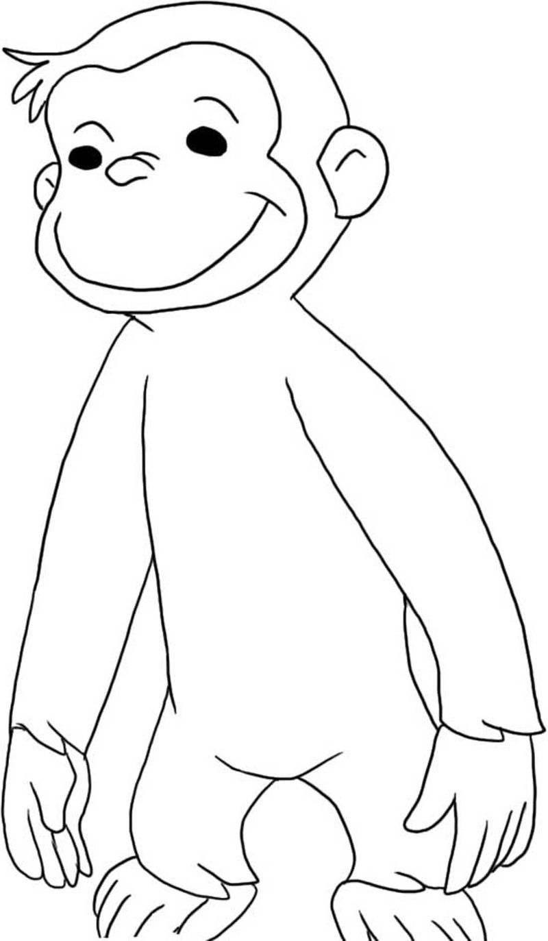 curious george coloring pages online free