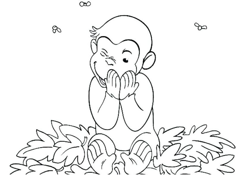 curious george coloring pages space