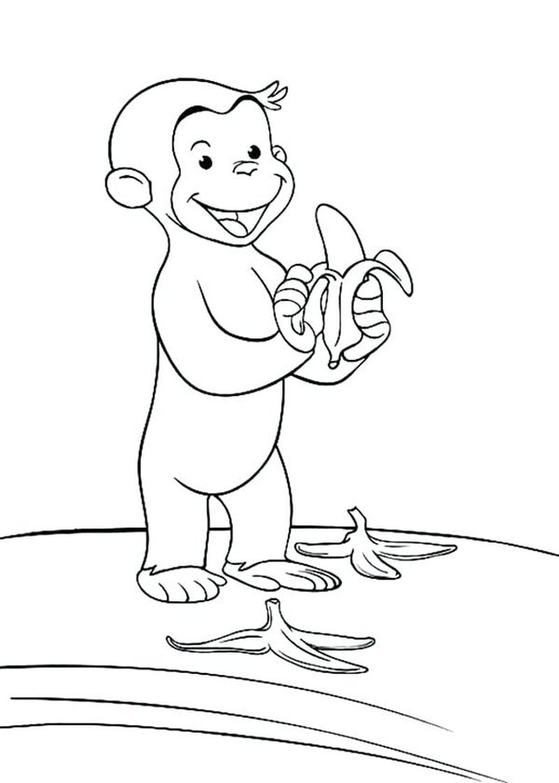 curious george colouring pages to print