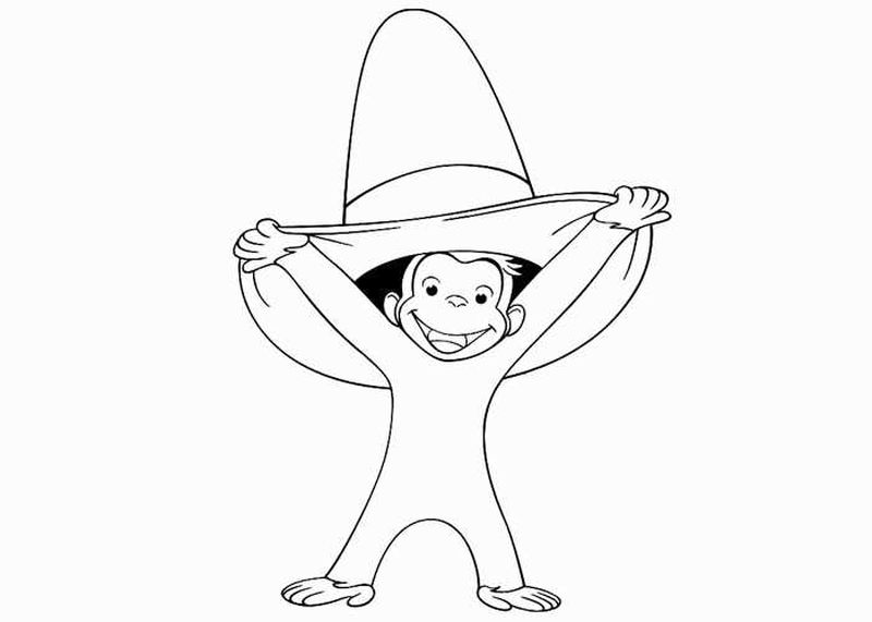 curious george movie coloring pages