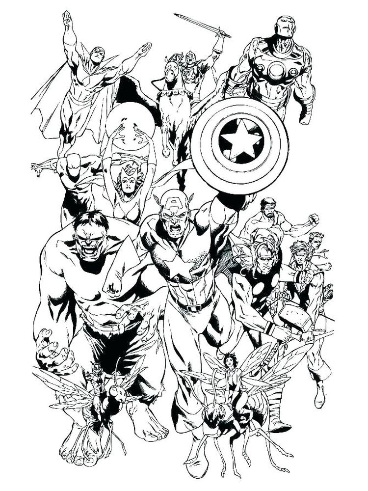 cute avengers coloring pages sheet