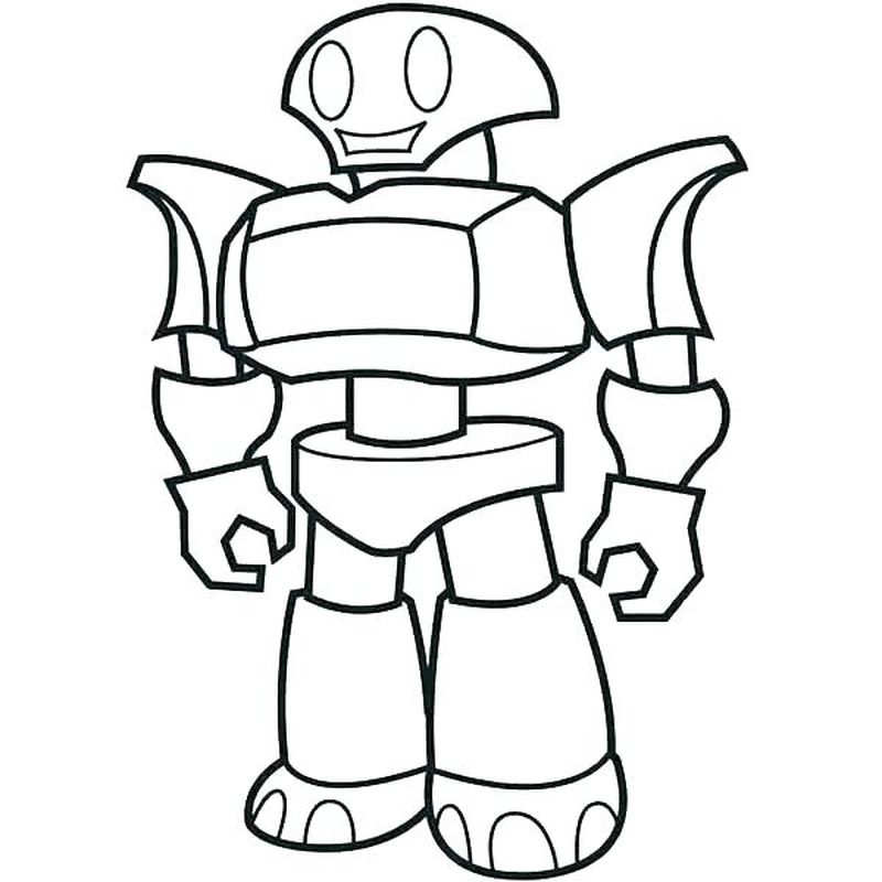 cute baby robot coloring pages