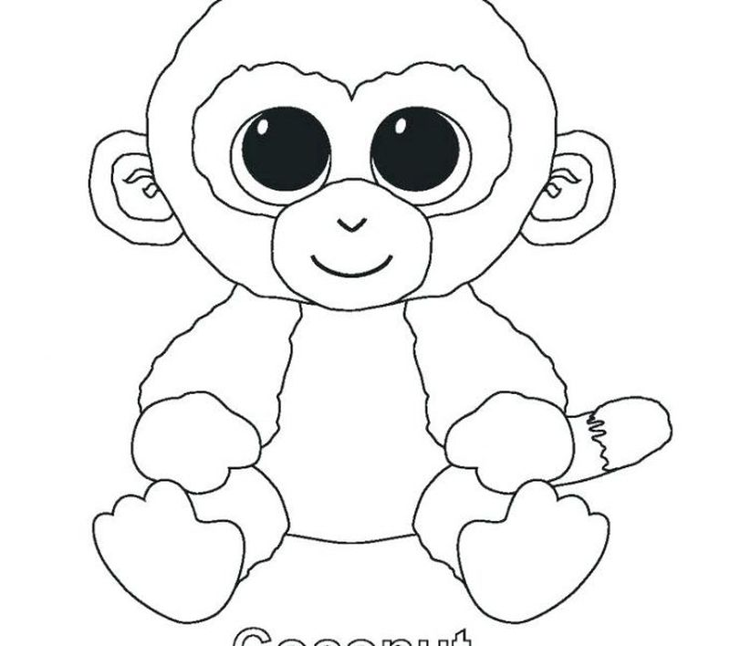 cute beanie boo coloring pages
