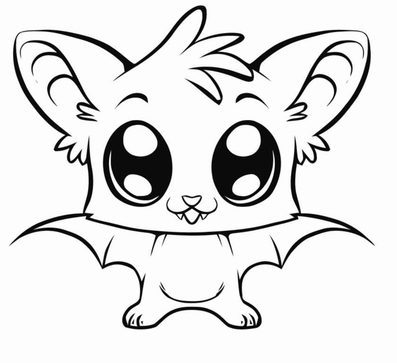 cute cartoon baby animal coloring pages