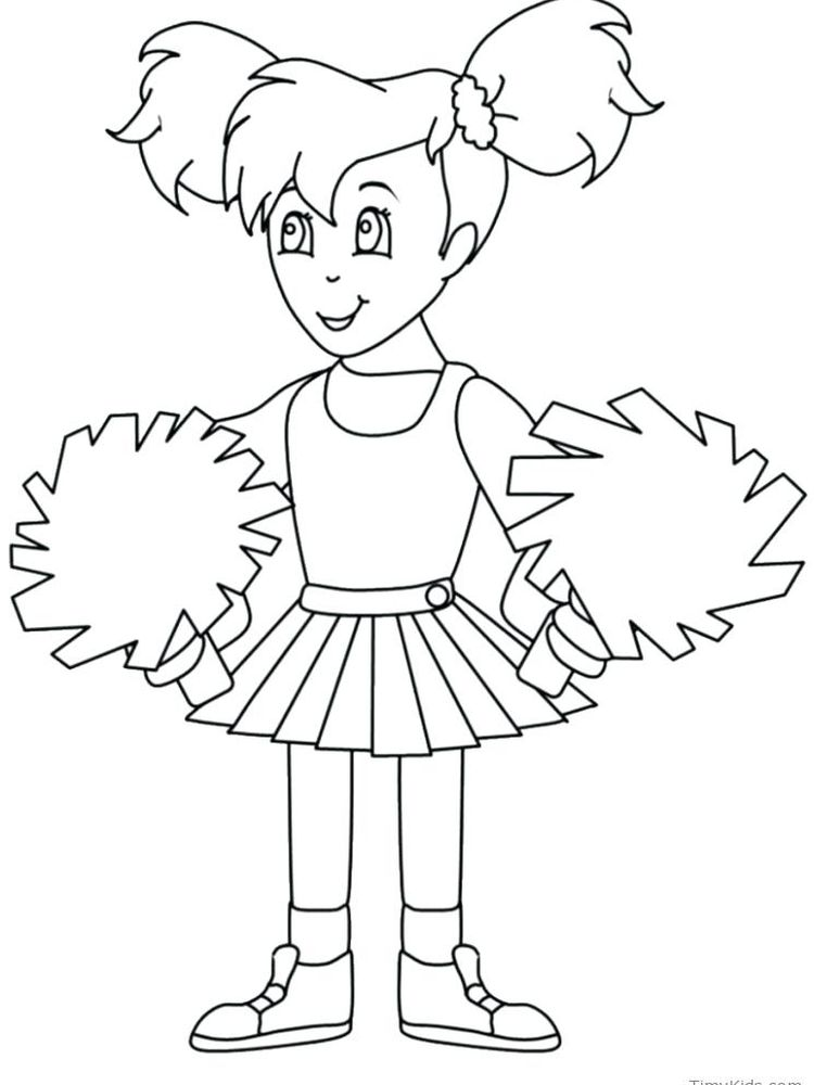 cute cheerleader coloring pages