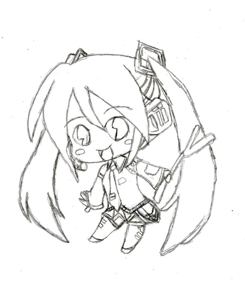 cute chibi anime coloring pages