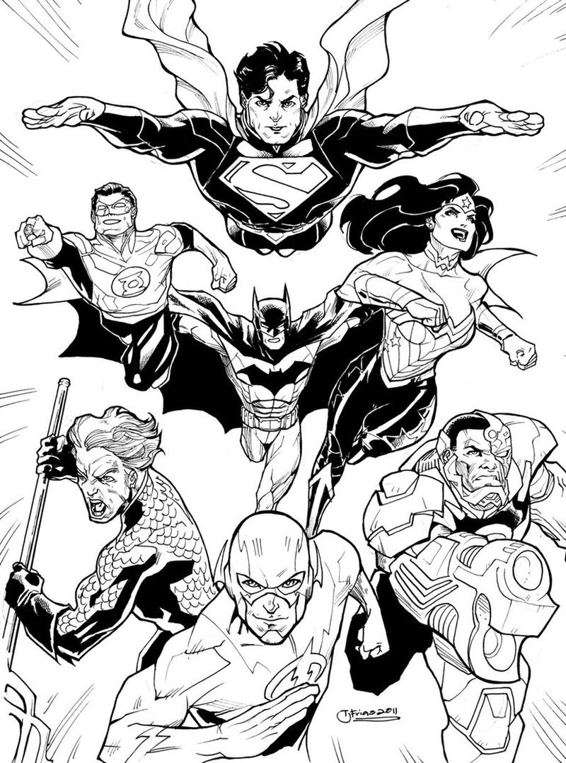 cute justice league coloring pages