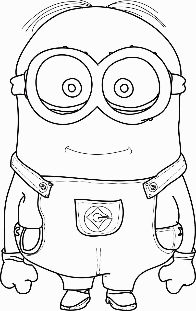 cute minions coloring pages