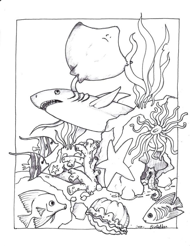cute ocean coloring pages