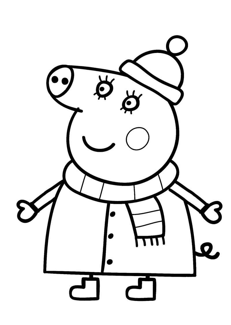 cute pig coloring pages free