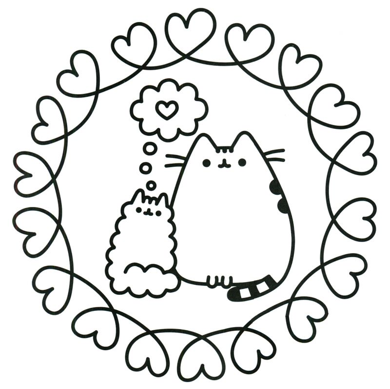 cute pusheen coloring pages printable