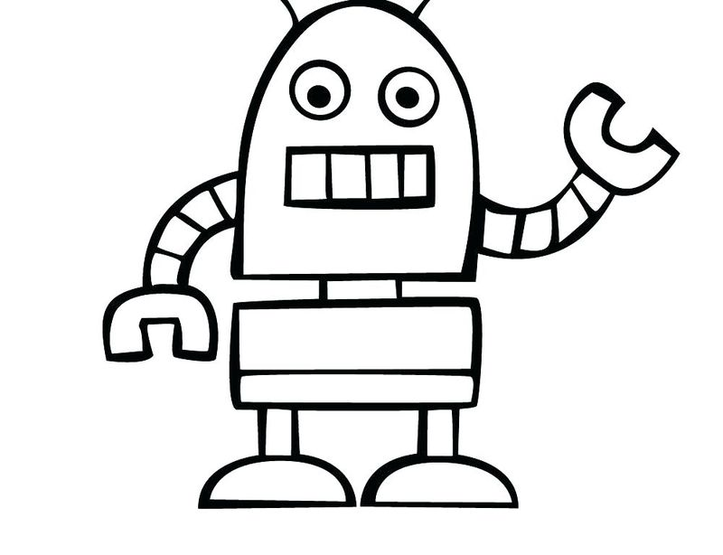 cute robot coloring pages to print