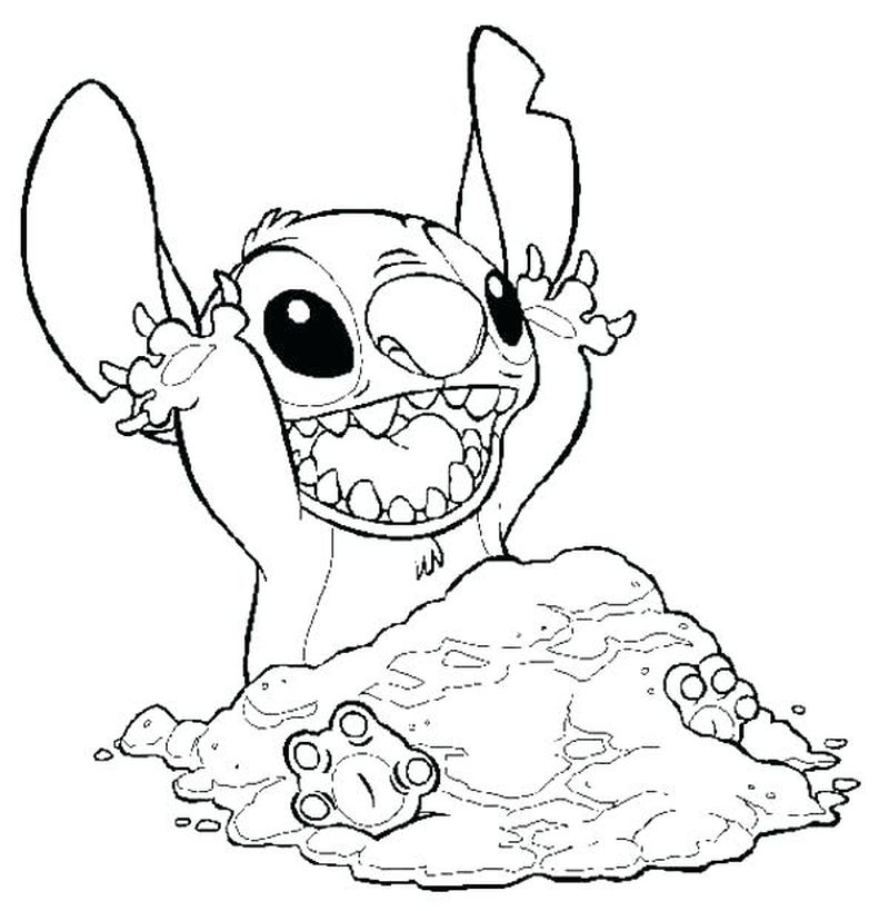 cute stitch coloring pages