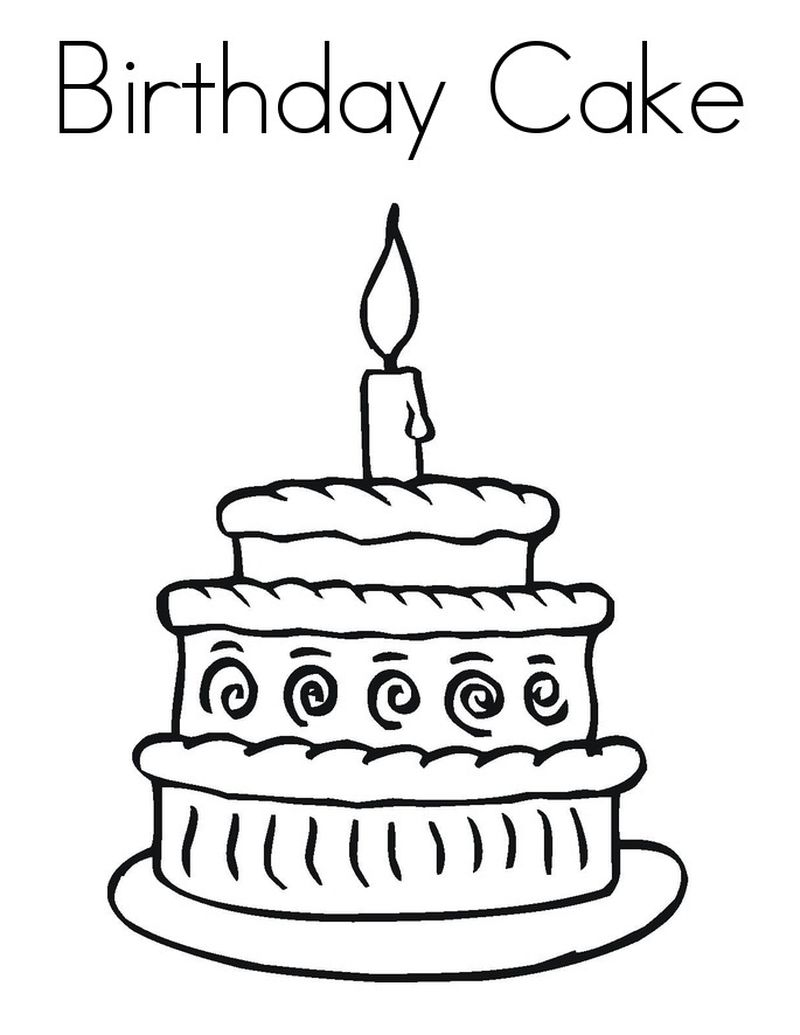 cute unicorn cake coloring pages