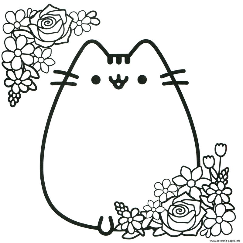 cute unicorn pusheen coloring pages
