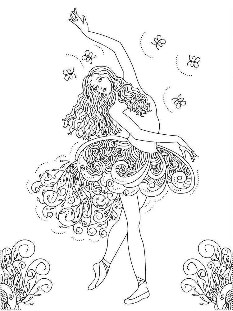 d is for dance coloring page printable