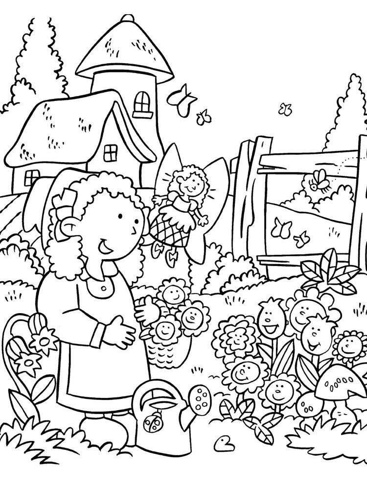 daisy flower garden coloring pages