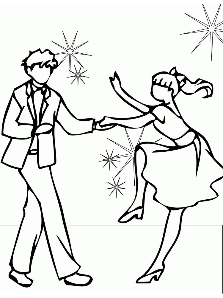 dance coloring page printable