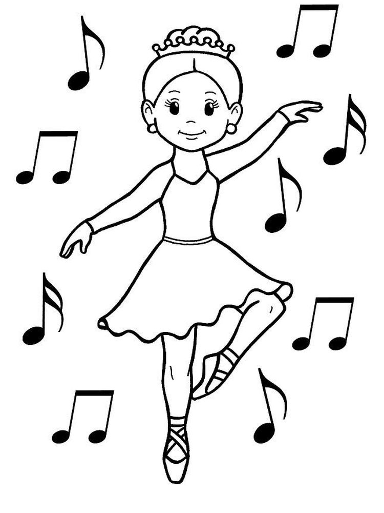 dance coloring pages for adults printable