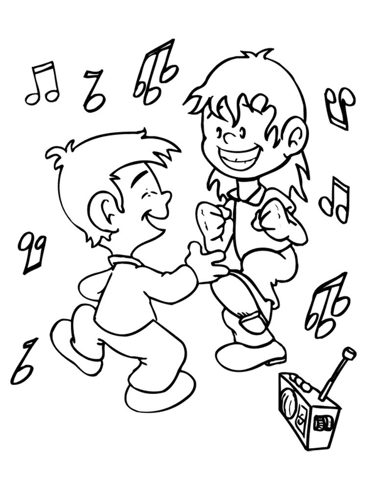 dance coloring pages free printable