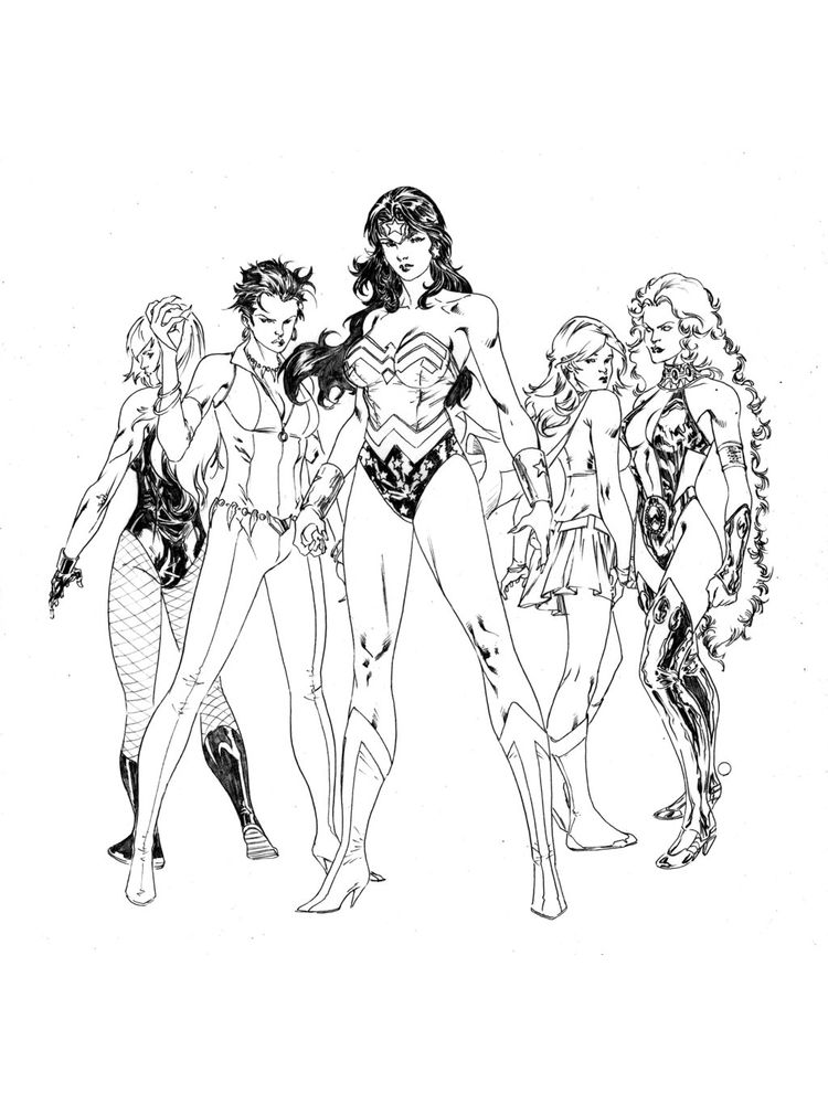 dc girls superhero coloring pages free