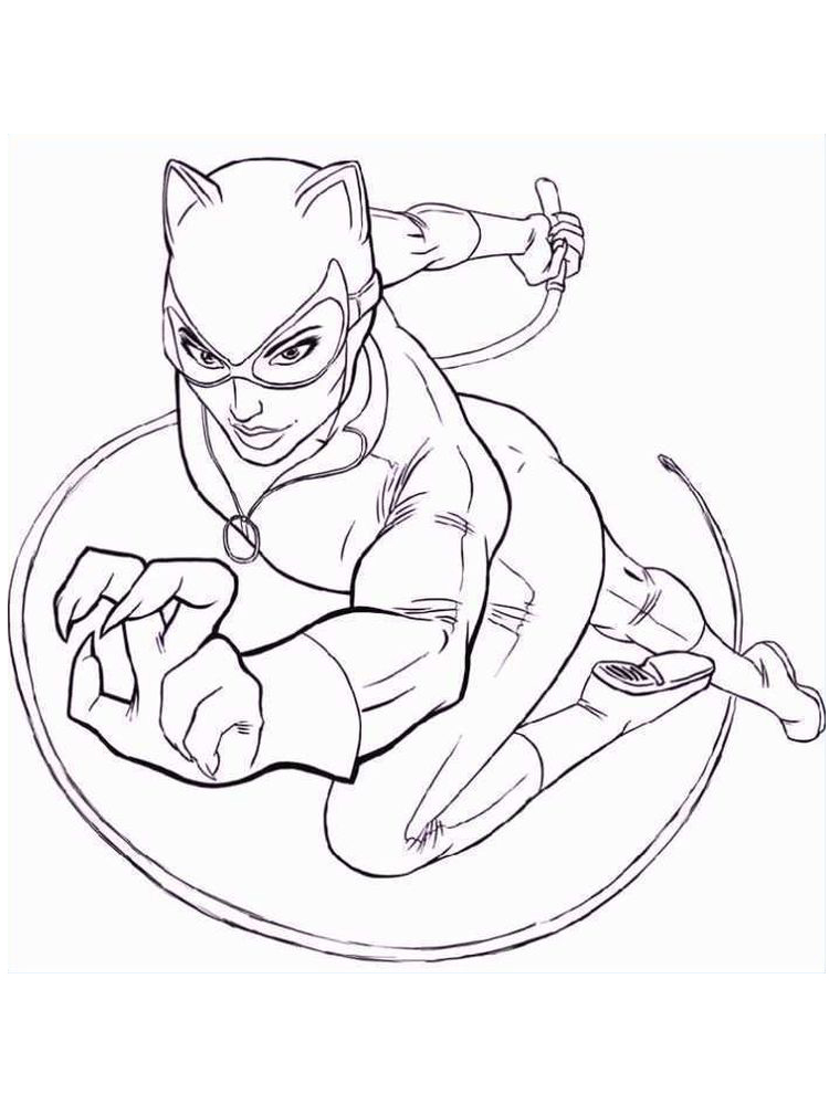 dc superhero girl coloring pages