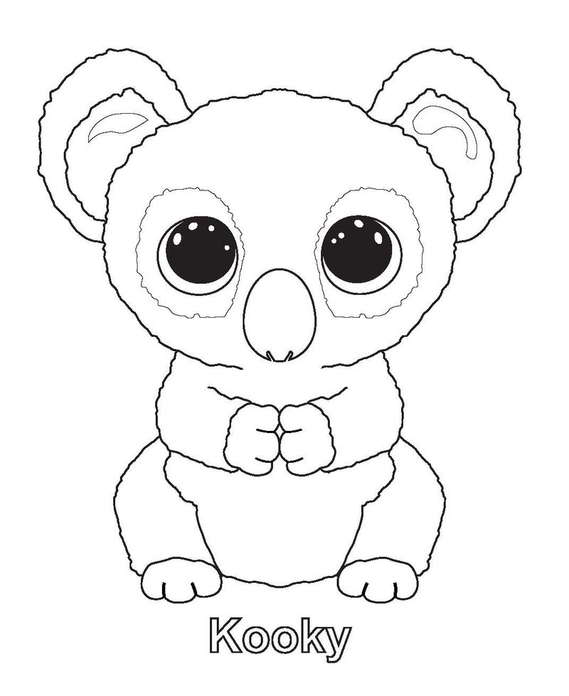 dexter beanie boo coloring pages