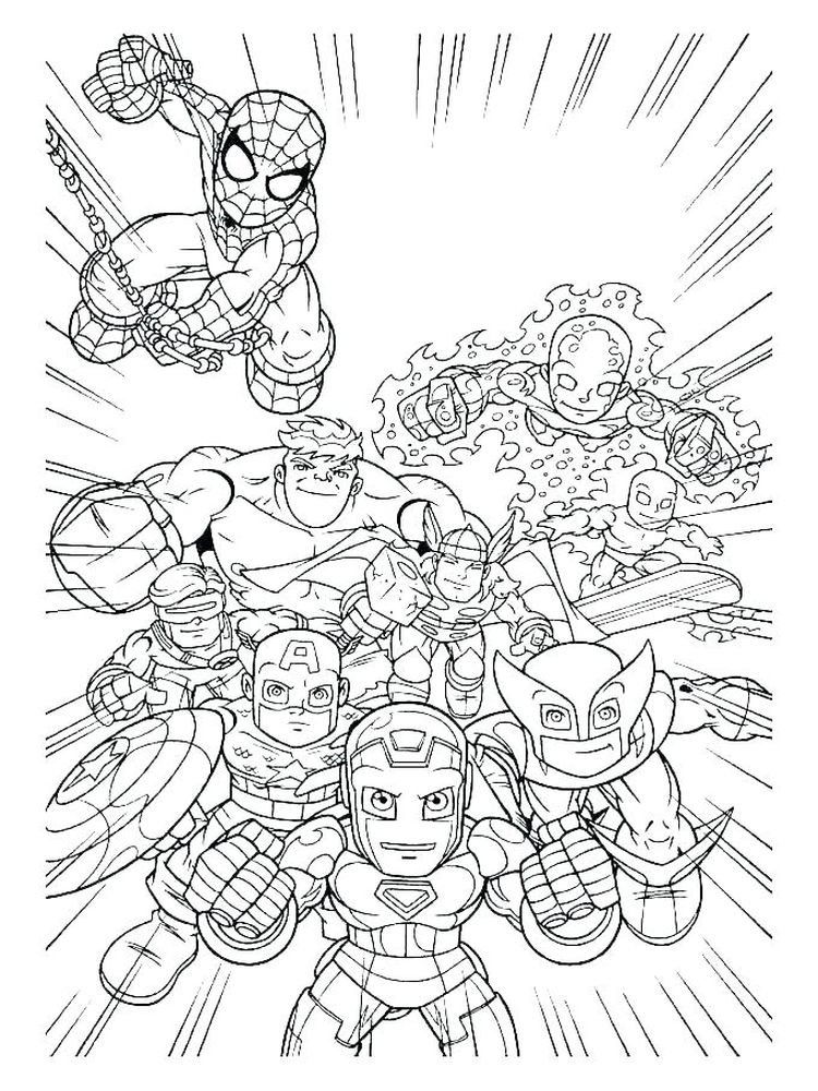 disney avengers coloring pages sheet