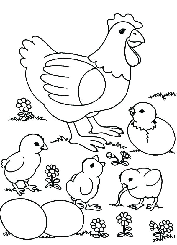 disney chicken coloring pages