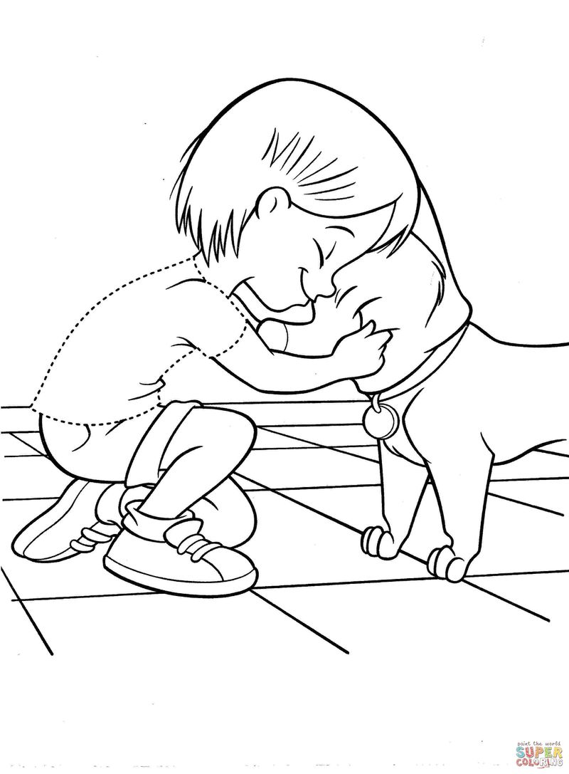 disney clips bolt coloring pages
