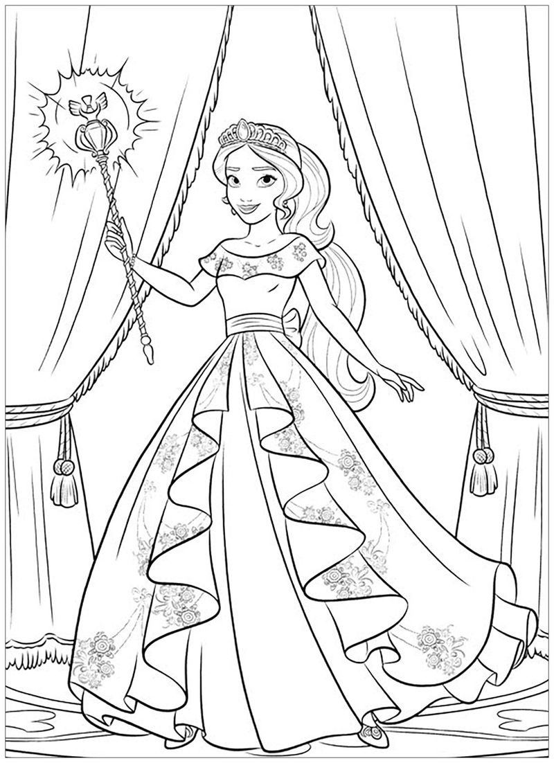 disney elena of avalor coloring pages
